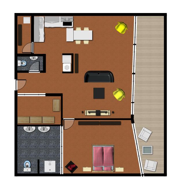 2-i apartmán River Park